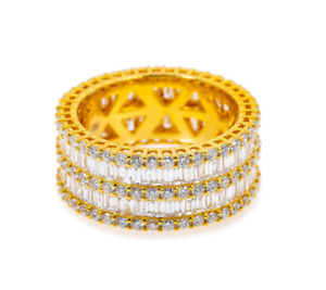 LADIES 14K YELLOW GOLD RING WITH 8.67 CT BAGUETTE AND ROUND CUT DIAMONDS