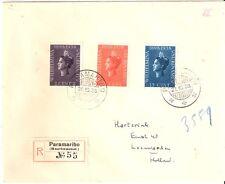Suriname nr 187/189 op aangetekende brief naar Nederland