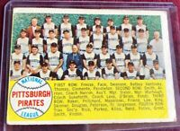 1958 Topps baseball Card # 341 Pittsburgh Pirates Team Card / Checklist