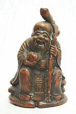 Nice  Hand  Carved  Bamboo  Figure  Of  Longevity