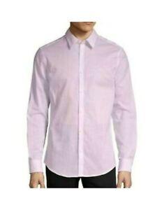 CALVIN KLEIN Mens Pink Pinstripe Collared Dress Shirt XXL