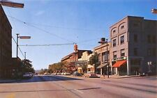 Hendersonville NC~Main Street~Carolina Theatre~Office Supply~Barber~1950s Cars