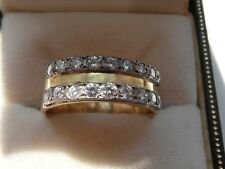 Q141 Ladies or Gents 18ct gold 3/4 carat Diamond wedding band ring size P 1/2