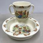 Royal Doulton Bunnykins Porridge Bowl & 2 handled Mug/Cup Set