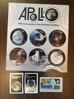 GUYANA MINT SHEET OF 6 APOLLO 11 50th ANNIV OF FIRST MOON LANDING & 3 USA STAMPS
