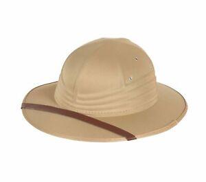 Safari Hat Adults Fancy Dress Jungle Explorer Helmet Unisex Costume Accessory
