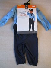 NEW Toddler Boys Halloween Costume Muscle Chest Police Officer Man Size 12-24 Mo