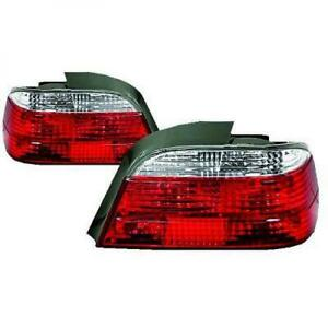 Back Rear Tail Lights Pair Set Brilliant Red White For BMW E38 94-98