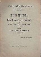 TRIBUNALE CIVILE DI MONTEPULCIANO MEMORIA DEFENSIONALE AVV. MARTINI SIENA 1915