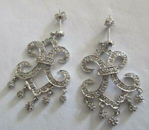 14K Gold Diamond Chandelier Earrings Diamond=1.25 Carats F-SI1     Value=$5,900