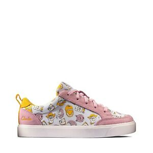 BNIB Clarks Toy Story Girls City Howdy Pink Canvas and Suede Shoes F/G Fitting
