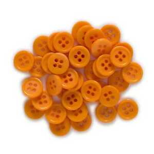 100pcs Orange Resin buttons for Sewing Scrapbooking Clothing Handmade Decor 10mm