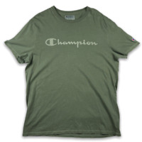 Champion Mens Crew Neck Authentic Athleticwear Green T Shirt Size XL