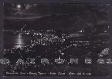 SAVONA PIETRA LIGURE 76a BORGIO VEREZZI - LOANO - NOTTURNO Cartolina viagg. 1953