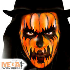 Orange Cream Make Up Fancy Dress Halloween Pumpkin Kids Adult Costume Face Paint