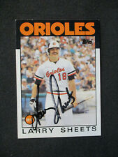 Larry Sheets Baltimore Orioles Autographed Signed 1986 Topps #147 EXMT+ 465