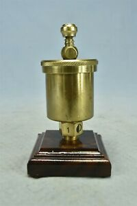 Antique WD ALLEN POLISHED BRASS GREASE CUP NO 1 #02312
