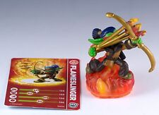Skylanders Giants Flameslinger Figure Loose With Trading Card