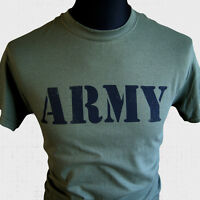 Army T Shirt Camouflage Marines Commando  Retro War Cool Film