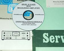 Bruel & Kjaer 2610 Measuring Amplifier, Operating & Service w/Schematics (2 Vol)