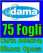 75 fogli A4 Carta Adesiva opaca x etichette - bianca