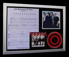 U2 All Because Of You LTD NOD QUALITY CD FRAMED DISPLAY+EXPRESS GLOBAL SHIP!!