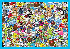 Sticker Bomb Sheet Bombing Decal Euro Drift Style Dub stickers skate R066