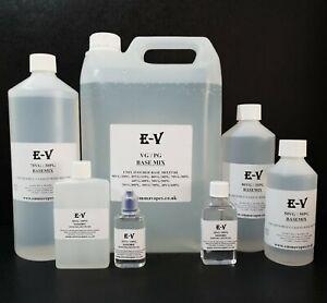 VG PG Base mix Highest Purity EP/USP 80/20 70/30 60/40 50/50 DIY Liquid mixing