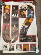 """U2 Promo Bono Vintage Poster 34"""" x 24"""" Original; Great condition"""