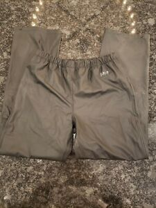 Helly Hansen Men's Polyurethane Rain Snow Pants Size Large Waterproof Black