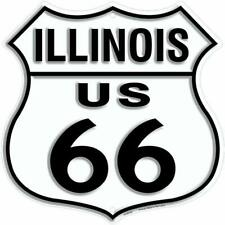 Embossed Signage - Route 66 Il Illinois Shield Sign
