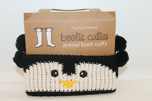 NEW! CUPCAKES & CARTWHEELS Bootie Cuties Set 'Penquin' Animal Boot Cuffs