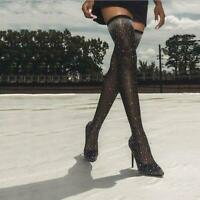 Fashion Crystal Stretch Fabric Sock Boots Pointy Toe High Pointed Toe Woman Boot