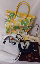 Lot of six bags perfume totes weekend bags misc