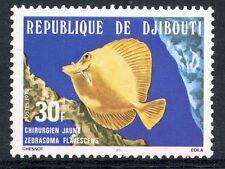 TIMBRE REPUBLIQUE DE DJIBOUTI N° 489 ** POISSON CHIRURGIEN JAUNE