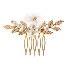 Bride Hair Comb Headwear Gold Leaf Luxury Wedding Women Bridal Jewelry Accessory