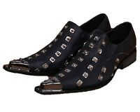 Us Size 5-12 Studded Black Leather Loafers Casual Dress Slip On Mens Shoes Sz