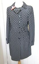 MOSCHINO black/oyster spot coat - UK10