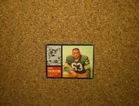 1962 Topps Football #69 Fuzzy Thurston (Green Bay Packers) RC (SP)
