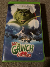 Jim Carrey How the Grinch Stole Christmas 2001 Green Clamshell Vhs