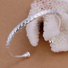 Women's Mens Unisex 925 Sterling Silver Bracelet Adjustable Size L31