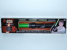 STAR WARS EPISODE 1 QUI-GON JINN ELECTRONIC LIGHTSABER MIB 1999 HASBRO
