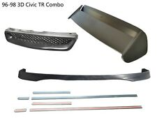 For 96-98 Honda Civic 3dr Type-R Front lip+Front Grill+CTR Spoiler+THIN MOLDING
