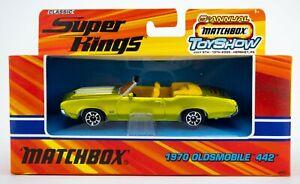 2005 Matchbox Super Kings Hershey Toy Show 1970 Oldsmobile 442 CITRUS GREEN