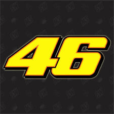 46 - Startnummer Sticker, Moto GP, Aufkleber, Decal, The Doctor, Valentino Rossi
