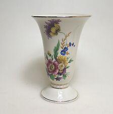 Grosse Hutschenreuther Vase handbemalt Blumenbouquet ca. 19 x 13,5 cm