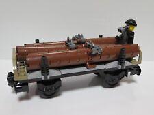 LEGO Train Carriage Logging Timber Cargo Railway Wagon & Crook Minifigure 60198