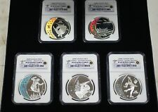 2008 Canada Hologram Coins, 5 Silver $25 NGC PR-69 Set, Olympic Royal Mint