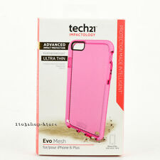 Tech21 Evo Mesh Shell Case Snap Cover For iPhone 6 Plus iPhone 6S Plus (Pink)
