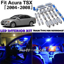 10x Blue LED Interior Lights Package Kit For 2004 2005 2006 2007 2008 Acura TSX